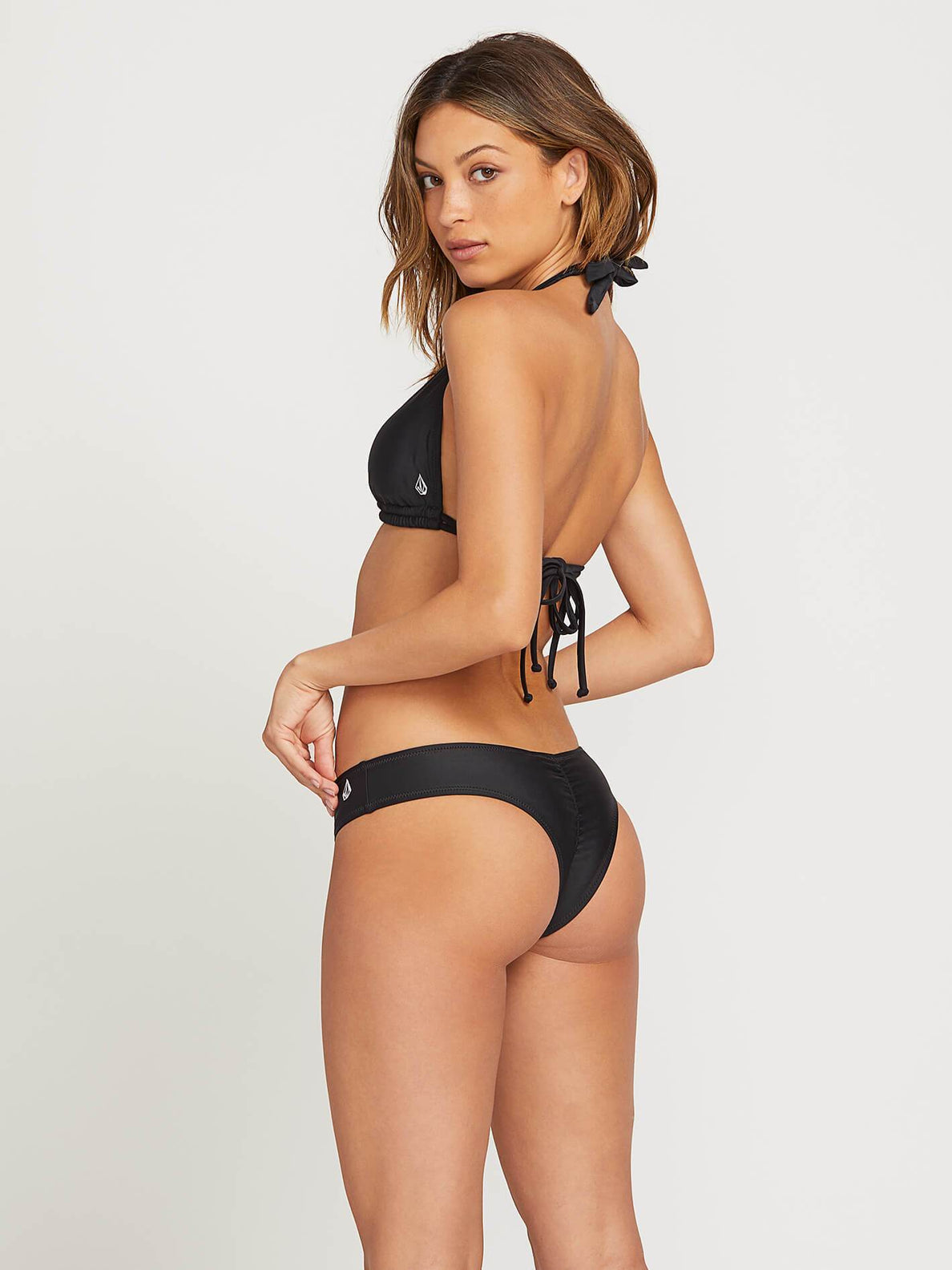 Simply Solid Cheeky Bottoms In Black, Front View