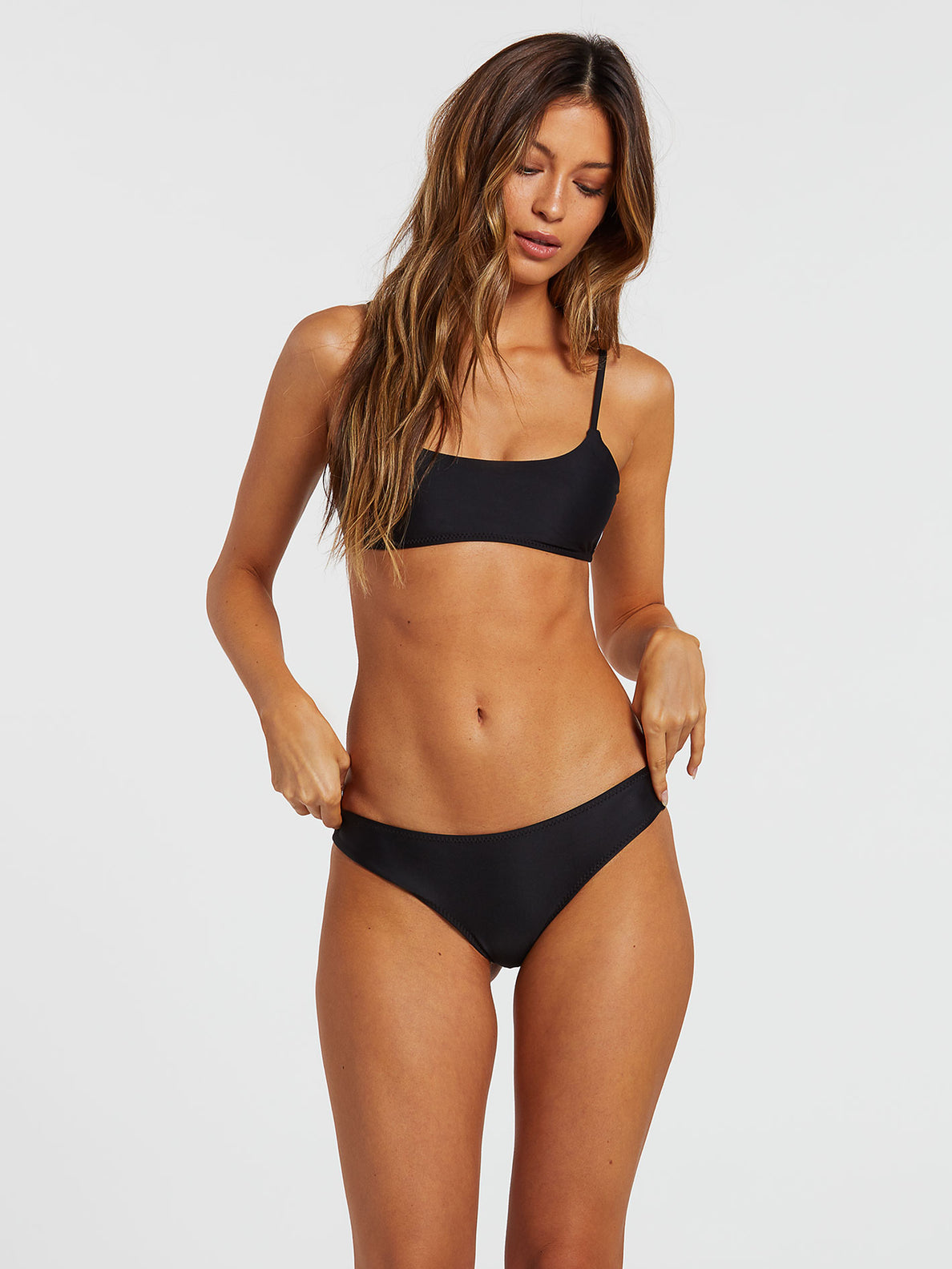 Simply Solid Cheekini Bottom - Black (O2141900_BLK) [F]
