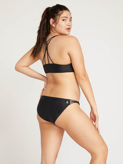 Simply Solid Full Bottoms In Black, Front Extended Size View