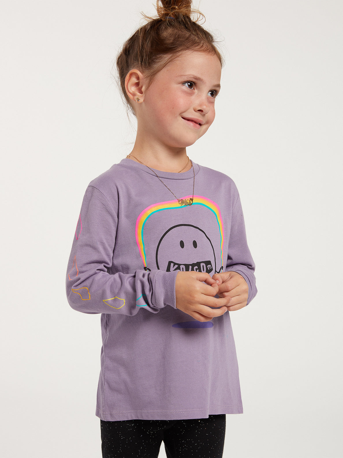 Little Girls Made From Stoke Long Sleeve Tee - Zine Purple (RR3632000_ZPP) [34]
