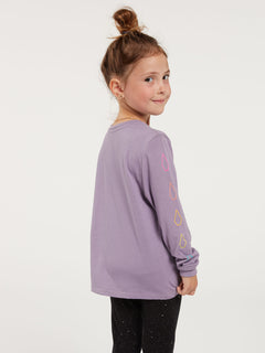 Little Girls Made From Stoke Long Sleeve Tee - Zine Purple (RR3632000_ZPP) [B]