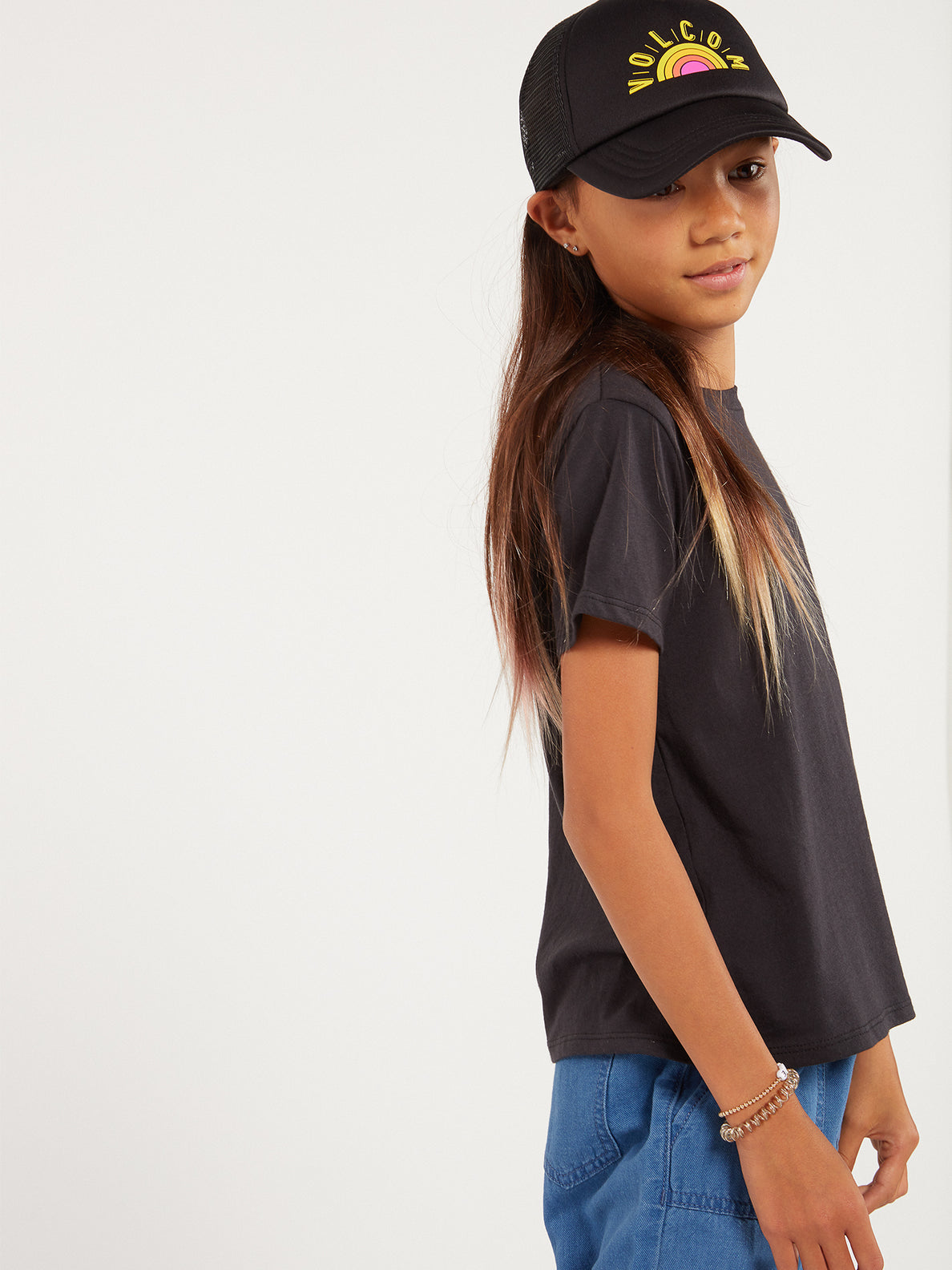_Big Girls Hey Slims Hat - Black (S5522000_BLK) [1]