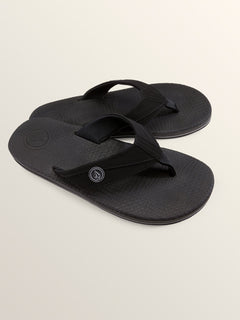 Lounger Sandals In Black, Front View