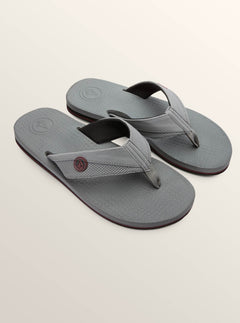 Lounger Sandals In Grey Vintage, Front View