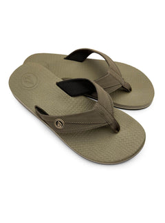 Lounger Sandals In Khaki, Front View