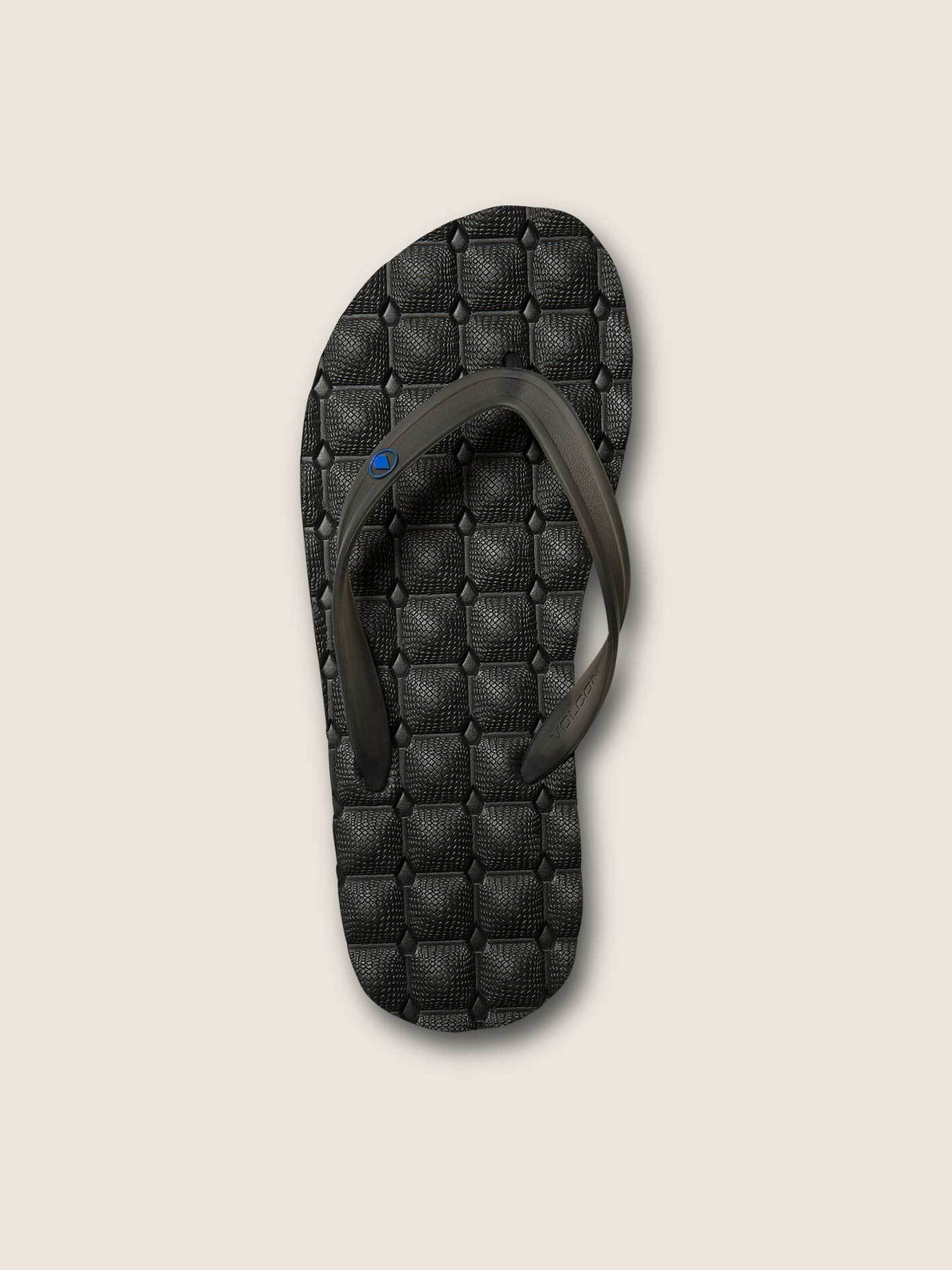 Recliner Rubber 2 Sandals In Blue Black, Alternate View