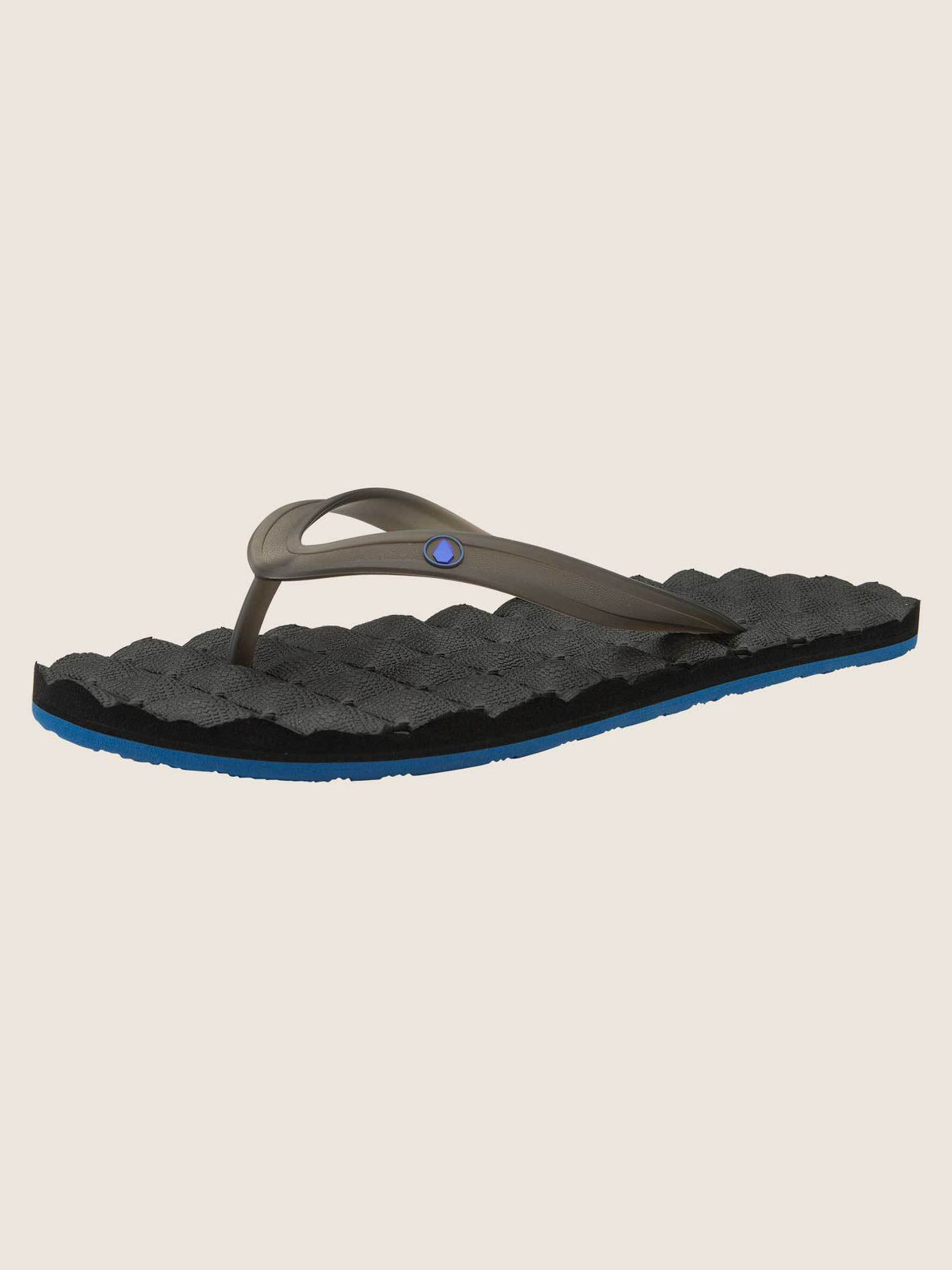 Recliner Rubber 2 Sandals In Blue Black, Back View