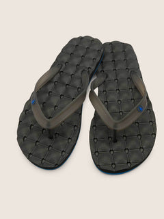 Recliner Rubber 2 Sandals In Blue Black, Front View