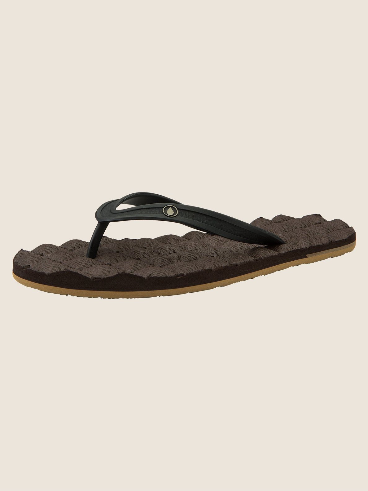 Recliner Rubber 2 Sandals In Brown Combo, Back View