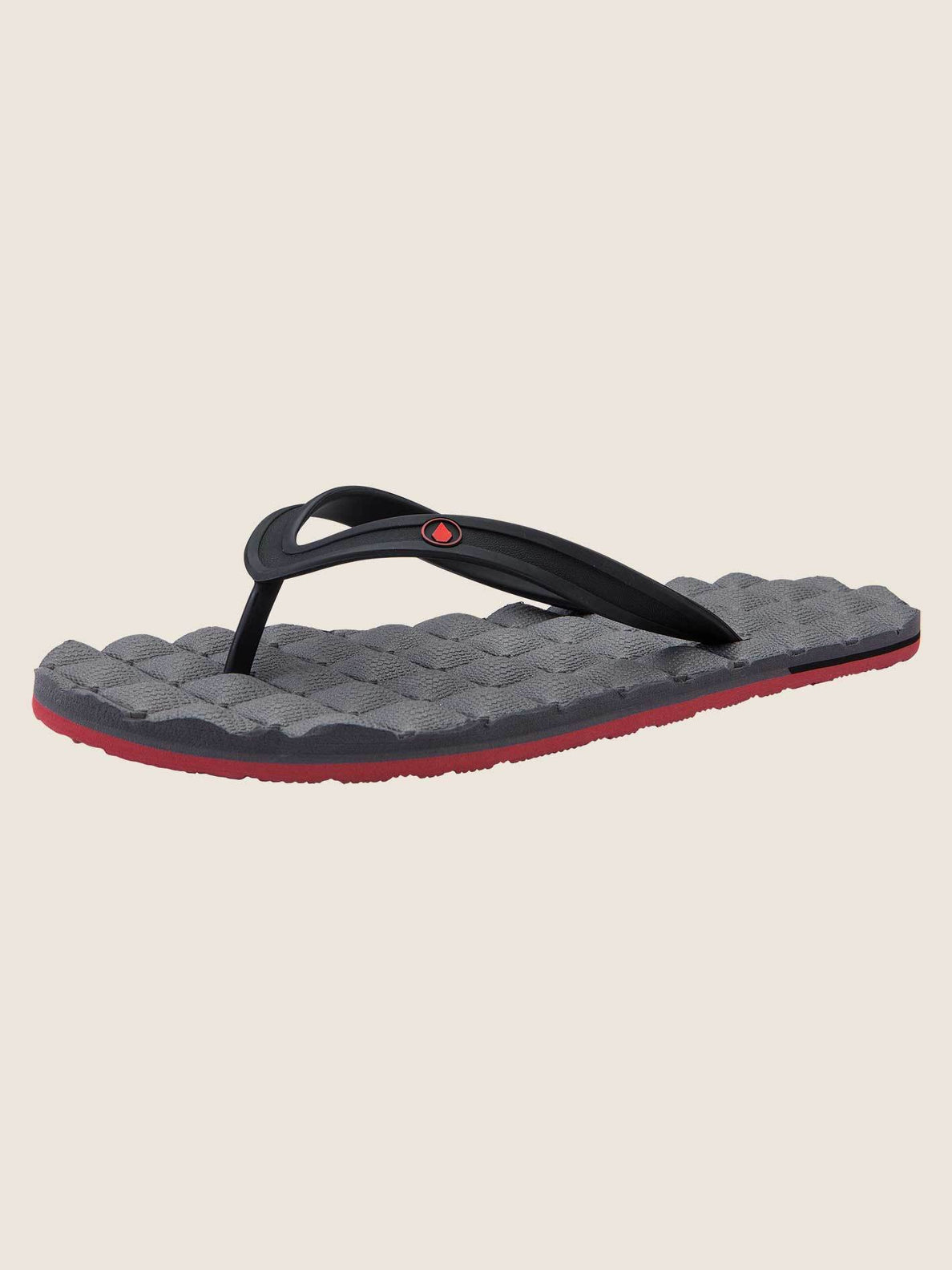 Recliner Rubber 2 Sandals In Pewter, Back View