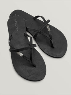 All Night Long Sandals - Sulfur Black