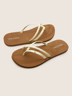 Thrills Sandals In Citron, Front View