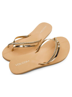 Thrills Sandals In Gold, Front View