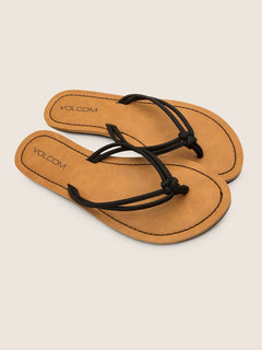 Forever 3 Sandals In Black, Front View