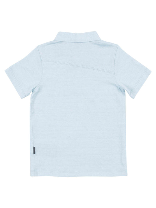 Little Boys Wowzer Polo - Cloud Blue