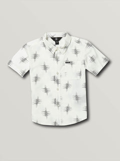 Little Boys Marker Fade Short Sleeve - White (Y0431903_WHT) [F]