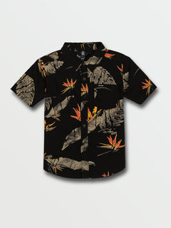 Little Boys Floral Erupter Short Sleeve Top - Black (Y0432001_BLK) [F]
