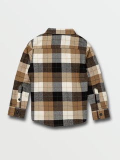 Little Boys Caden Plaid Long Sleeve  Flannel - Primer White (Y0532005_PWT) [B]