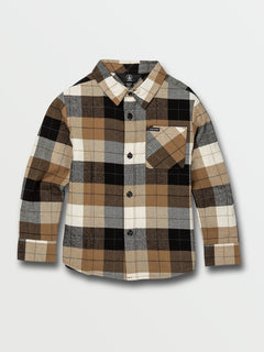 Little Boys Caden Plaid Long Sleeve  Flannel - Primer White (Y0532005_PWT) [F]