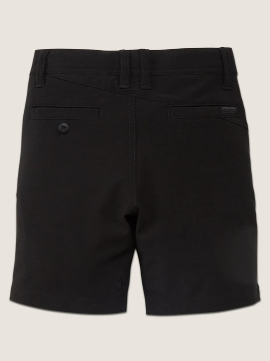 Little Boys Frickin Surf N' Turf Static Hybrid Shorts In Blackout, Back View