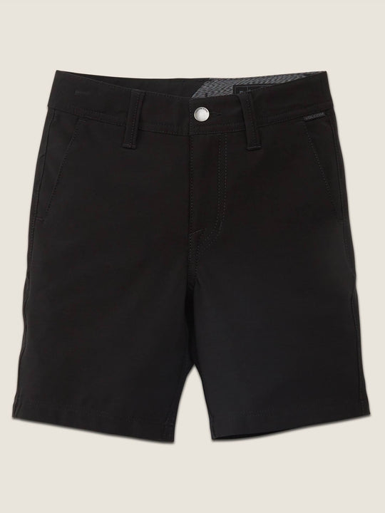 Little Boys Frickin Surf N' Turf Static Hybrid Shorts In Blackout, Front View