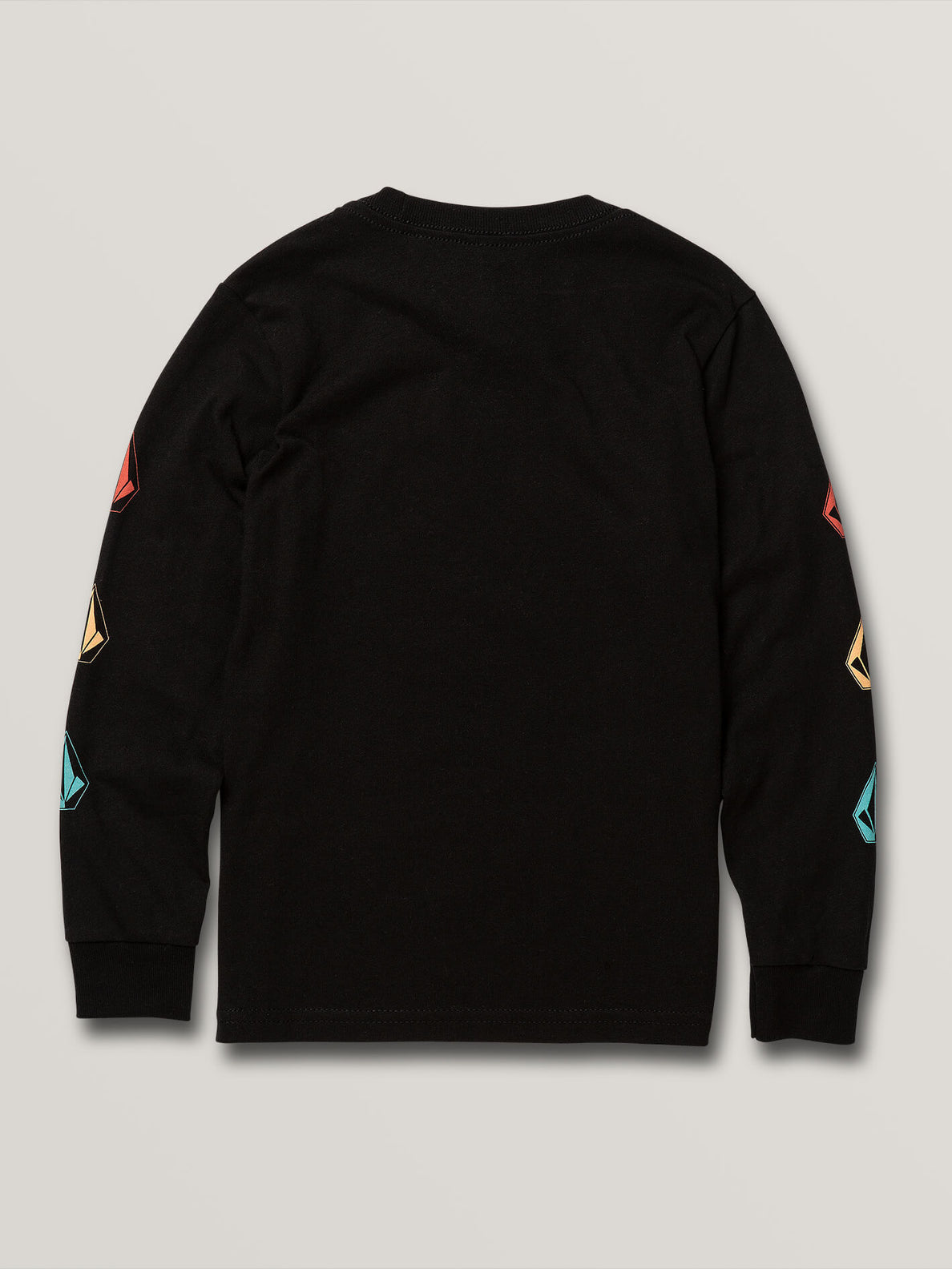 LITTLE BOYS DEADLY STONES LONG SLEEVE TEE - BLACK ON BLACK