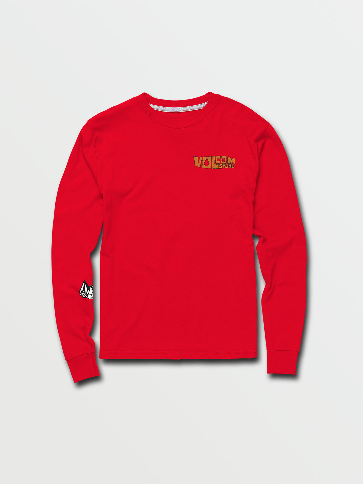 Little Boys Catback Long Sleeve Tee - Fiery Red (Y3632031_FRY) [F]