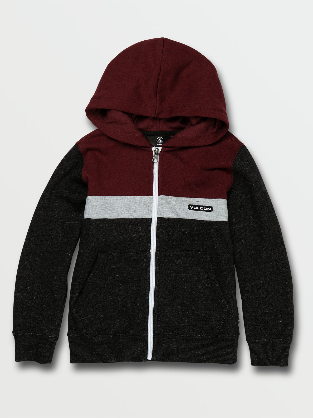 Little Boys Single Stone Division Zip Fleece - Port (Y4832003_POR) [F]