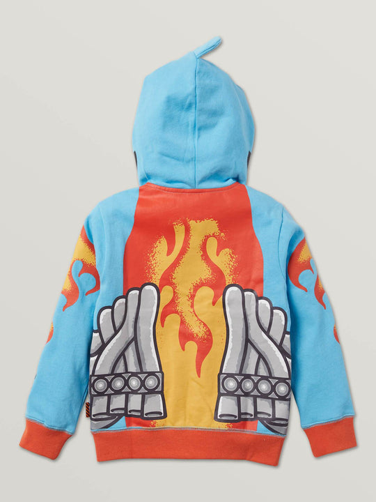 Little Boys Hot Wheels'Ñ¢ Sharkruiser Zip Hoodie In Light Blue, Back View