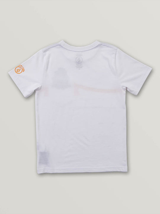 Little Boys Hot Wheels'Ñ¢ Pile Up Short Sleeve Pocket Tee In White, Back View