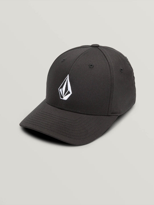 Little Boys Full Stone Xfit Hat In Black, Front View