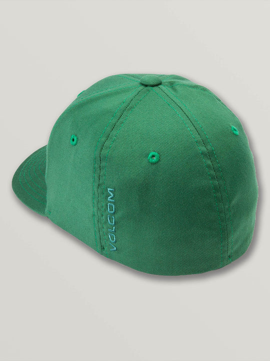 Little Boys Full Stone Xfit Hat In Snow Forest, Back View