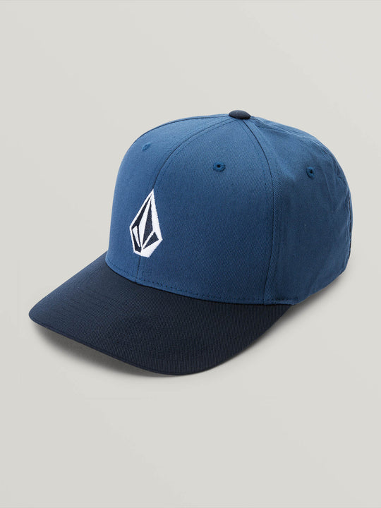 Little Boys Full Stone Xfit Hat In Smokey Blue, Front View