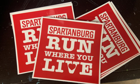 Run Where You Live decal
