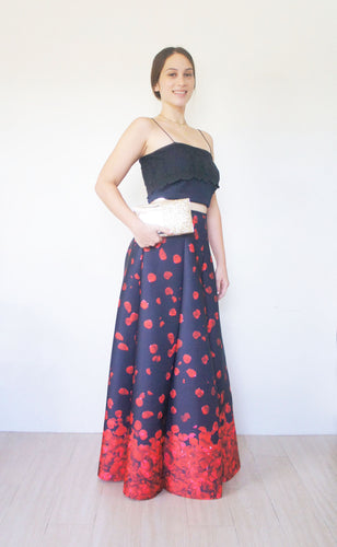 Prim Petals Neoprene Ball Skirt Black