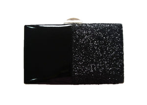 Camellia Clutch Bag Black