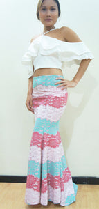 Azalea Mermaid Lace Skirt Pink