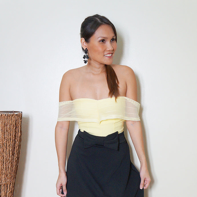Boonsri Off Shoulder Top Yellow
