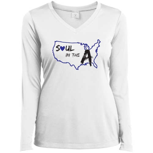 Blue Soul in the A Ladies' LS Performance V-Neck T-Shirt