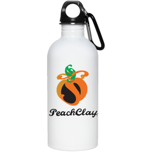 PeachClay Logo 20 oz. Stainless Steel Water Bottle
