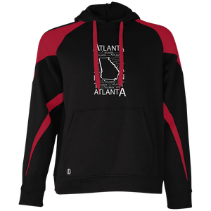 Atlanta, GA Color block Hoodie