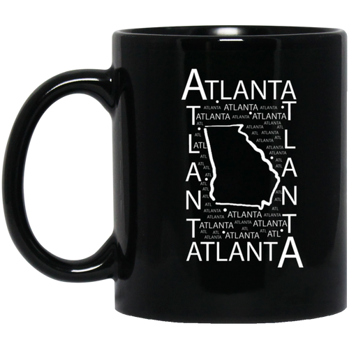 Atlanta, GA 11 oz. Black Mug
