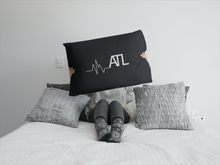 Load image into Gallery viewer, Heartbeat ATL Throw Pillow - Black