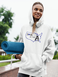 Blue Soul in the A Unisex Hoodie (Choose, Grey or White)