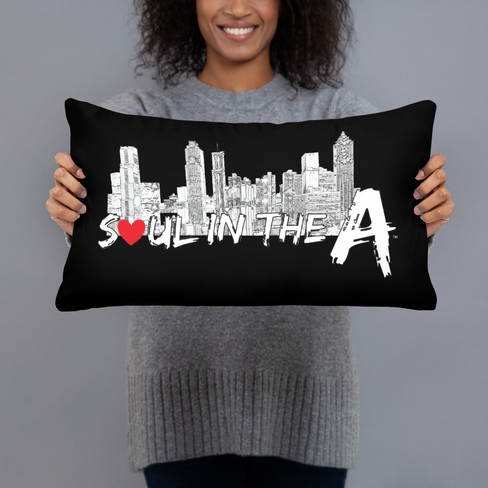 Soul in the A Decorative Pillows - Black