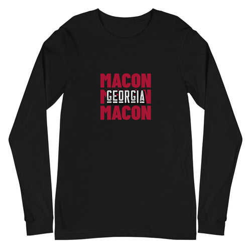 Macon, GA Unisex Long Sleeve Tee