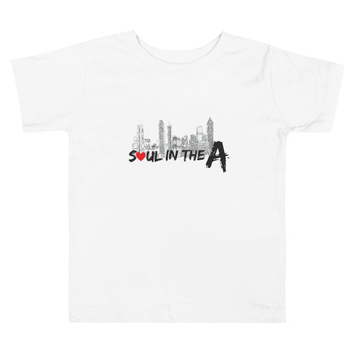 Soul in the A Toddler Short Sleeve Tee - Choose White or Pink