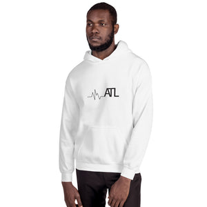 Heartbeat ATL - Unisex Hooded Sweatshirt - Pick a color (White or Grey)