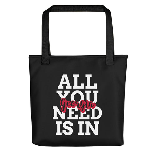 All You Need is in Georgia Tote bag - black