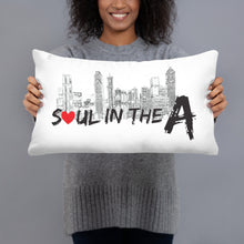 Load image into Gallery viewer, Soul in the A Throw Pillow - White